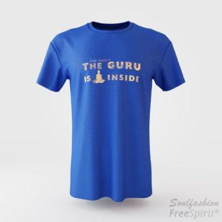 The guru is inside - Soulfashion - Free Spirit - Shirt - Herren - Gold - Azur
