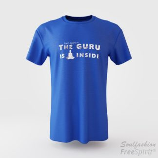 The guru is inside - Soulfashion - Free Spirit - Shirt - Herren - Silber - Azur