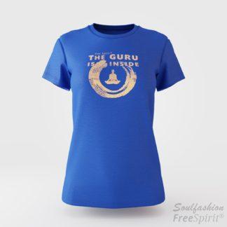 The guru is inside - Soulfashion - Free Spirit - Shirt - Damen - Gold - Azur