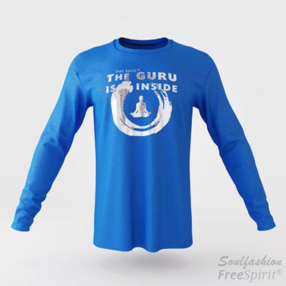 The guru is inside - Soulfashion - Free Spirit - Longsleeve-Shirt - Herren - Silber - Tropical Blue