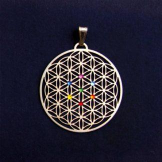 Amulett BdL Chakra Kreis gold