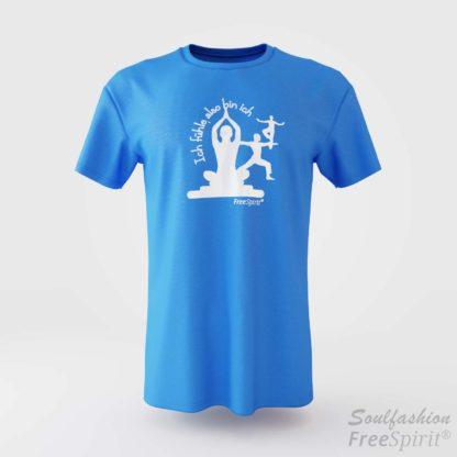 Herren T-Shirt Ich fühle also bin ich - FreeSpirit Shop - bright blue