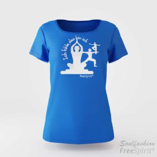 Damen T-Shirt Ich fühle also bin ich - FreeSpirit Shop - tropical blue