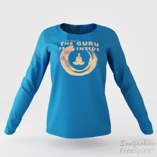 The guru is inside - Soulfashion - Free Spirit - Longsleeve-Shirt - Damen - Gold - Turquoise