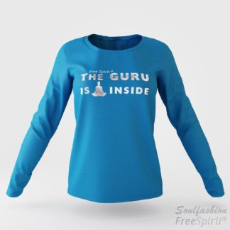 The guru is inside - Soulfashion - Free Spirit - Longsleeve-Shirt - Damen - Silber - Turquoise